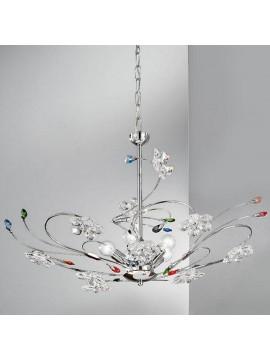 Modern colored crystal chandelier 5 lights Marg-sp