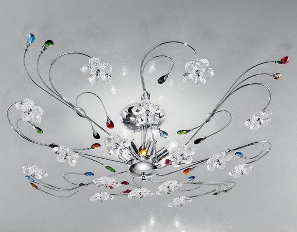 Plafoniere Vetro Colorato : Plafoniera moderna cristallo colorato luci marg plg