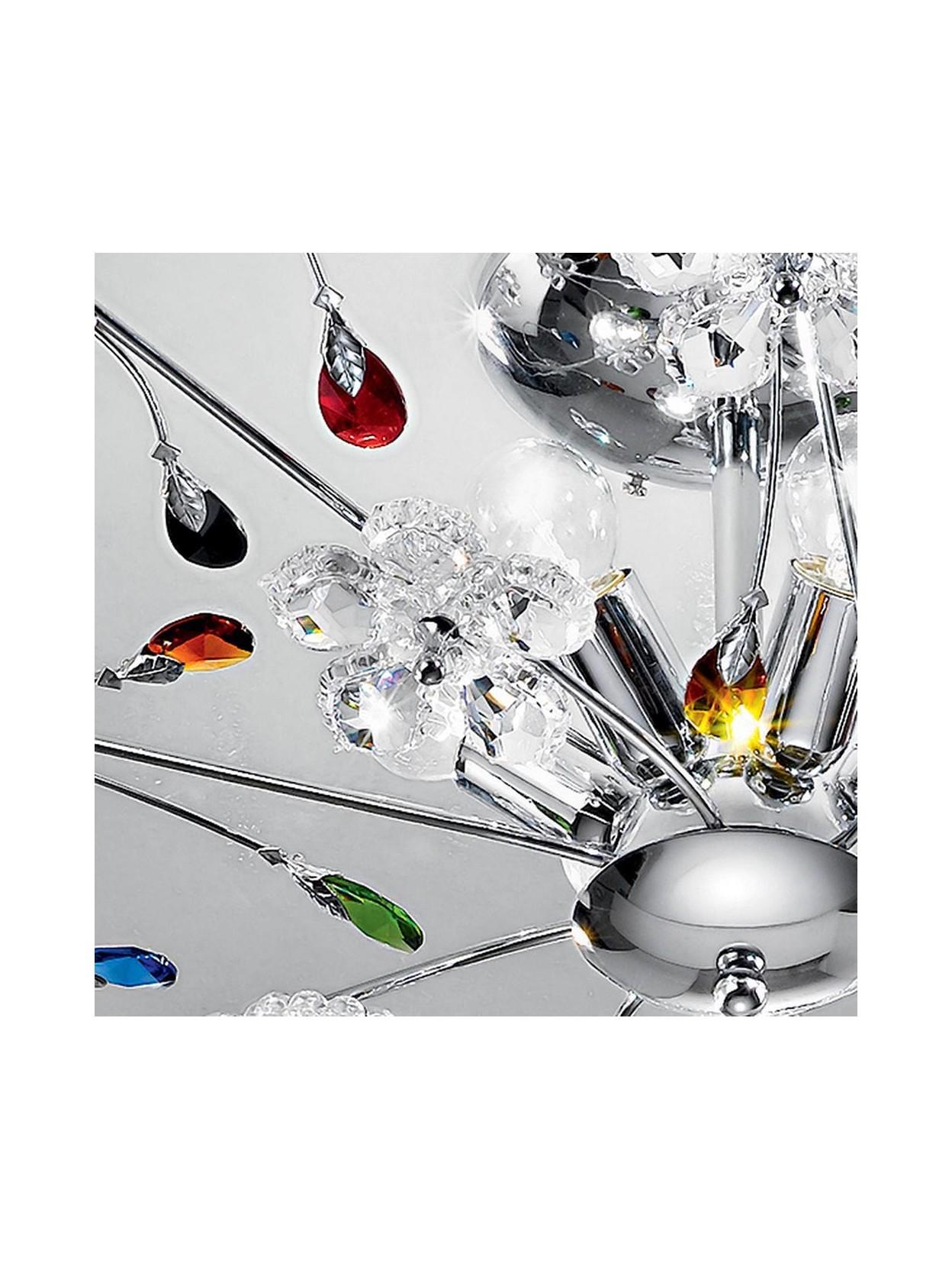 Plafoniere Moderne Colorate.Plafoniera Moderna Cristallo Colorato 5 Luci Marg Plg