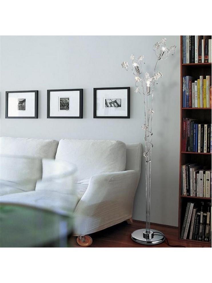 Modern floor lamp crystal flower 3 lights 2555