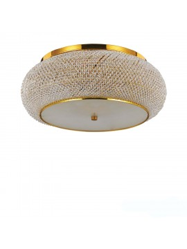Contemporary ceiling lamp with crystal pearls 10 lights Pashà