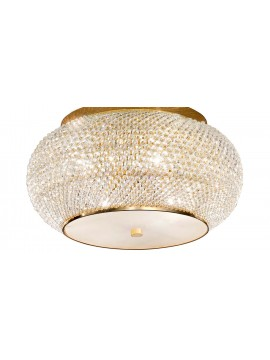Contemporary ceiling lamp with 6 lights Pashà crystal pearls