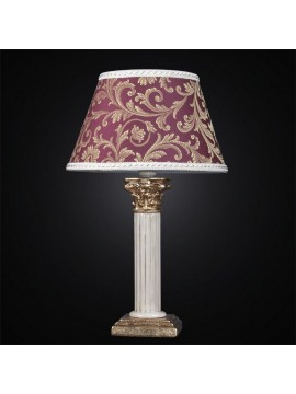 Large luminaire ceramic column gold leaf 1 light BGA 2671 / LG