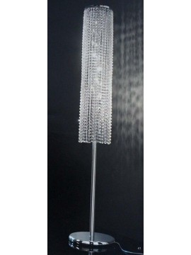 Floor lamp in transparent crystal 8 lights round Voltolina Rainbow