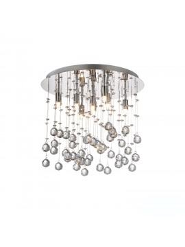 Plafoniera moderna con sfere in cristallo 8 luci Moonlight