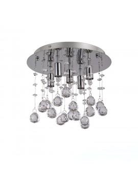 Plafoniera moderna con sfere in cristallo 5 luci Moonlight