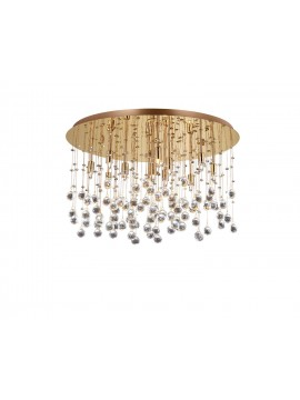 Contemporary ceiling lamp with crystal spheres 12 Moonlight lights