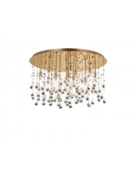 Plafoniera contemporanea con sfere in cristallo 12 luci Moonlight
