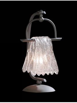 Lume grande antracite e vetro bianco 1 luce BGA 1090