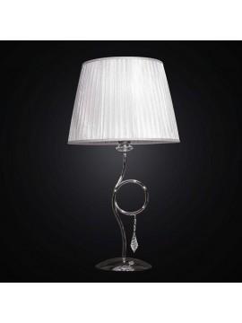 Lume grande cromato con cristalli 1 luce BGA 1695