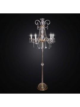 Piantana in cristallo classico 5 luci BGA 1716