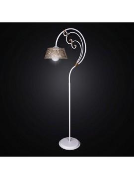 Floor lamp wrought iron white and gold 1 light BGA 1143