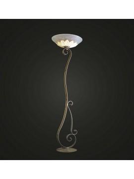Classic wrought iron floor lamp 1 light BGA 786