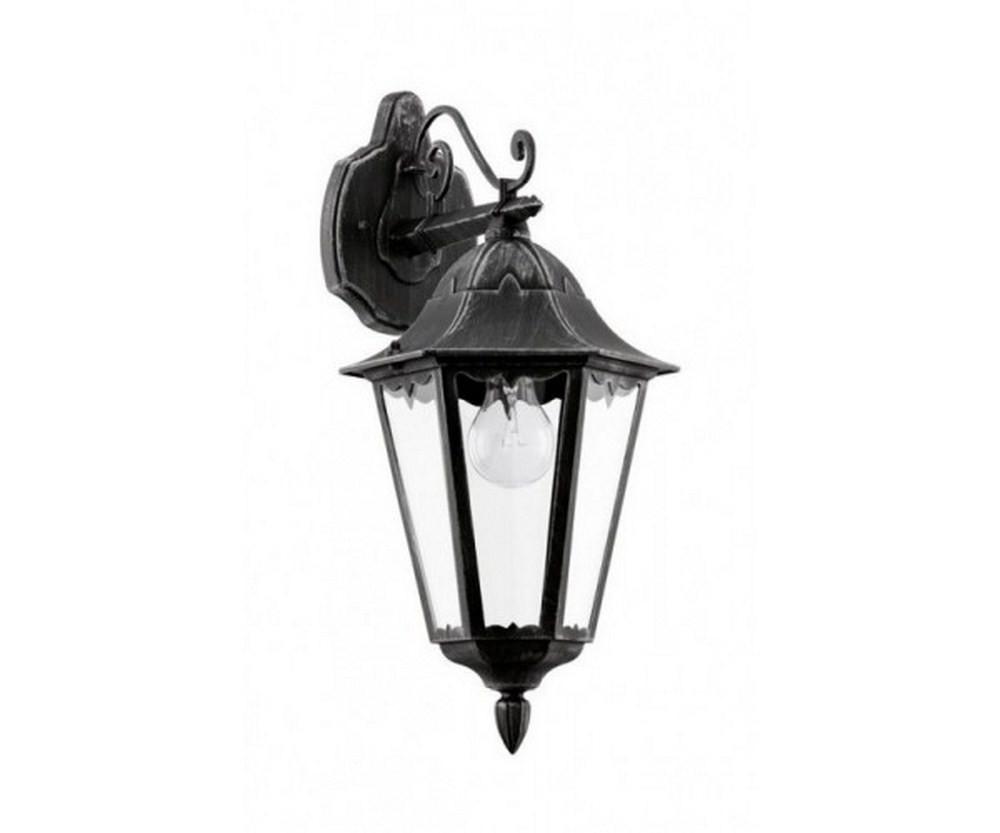 Applique da esterno classico nero argento glo 93456 navedo