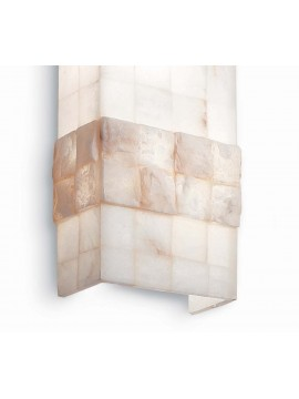 Wall lamp in alabaster stone effect 2 lights Stones