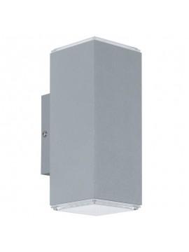 Applique da esterno moderno a led argento GLO 94186 Tabo