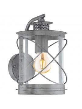 Applique da esterno moderno argento 1 luce GLO 94866 Hilburn 1