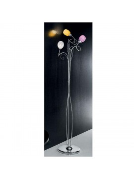 Modern chrome colored floor lamp 3 lights Mia