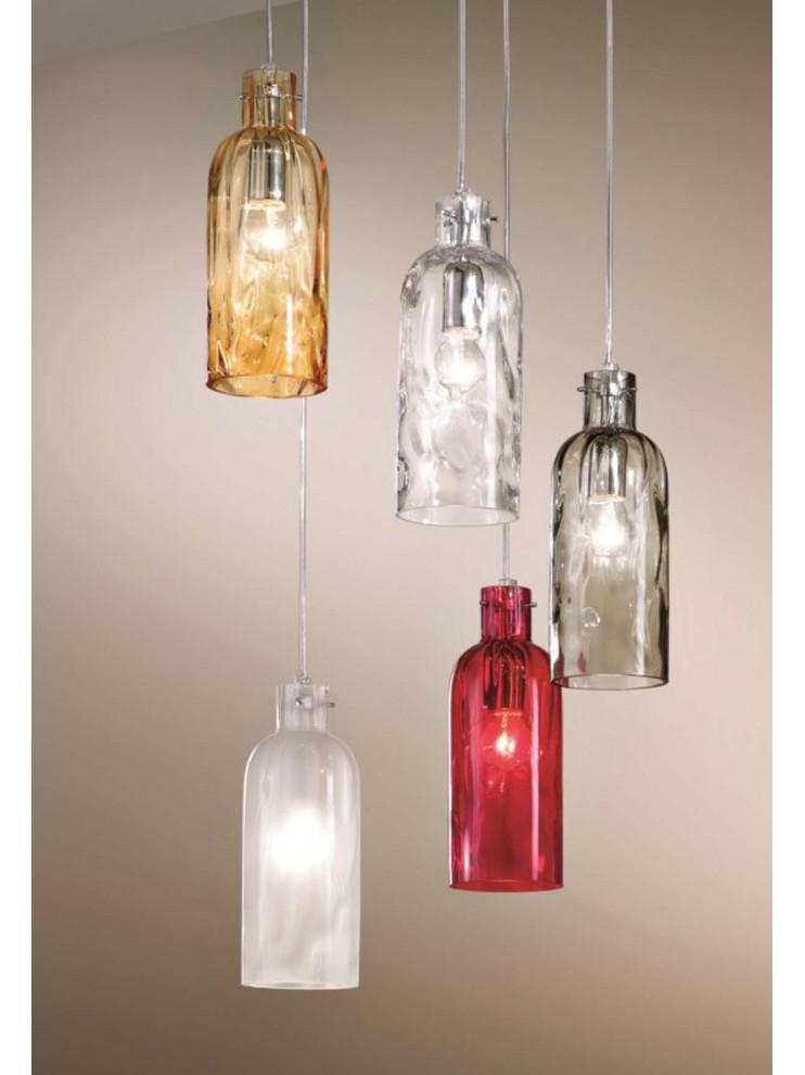 Lampadario moderno vetro design 5 luci 2598