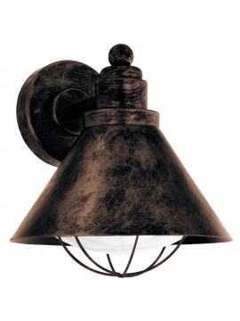 Applique da esterno classico rame 1 luce GLO 94858 Barrosela
