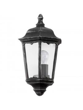 Applique da esterno classico 1 luce nero-argento GLO 93459 Navedo