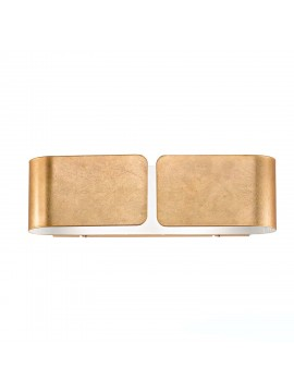 Applique contemporaneo in metallo foglia oro 2 luci Clip small