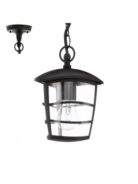Modern outdoor chandelier 1 light black GLO 93406 Aloria