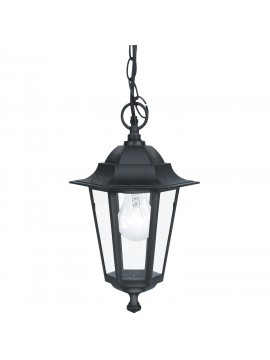 Black classic outdoor chandelier GLO 22471 Laterna 4