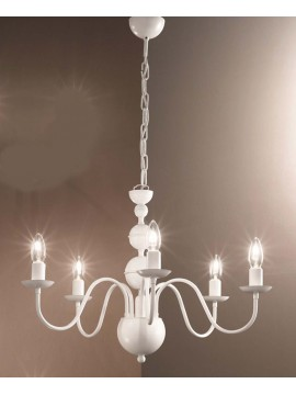 Modern white 5 lights chandelier 2597-5