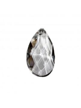 Mandorla in cristallo trasparente ricambio per lampadari 38mm con foro