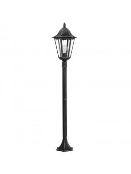 Paletto da esterno classico 1 luce nero-argento GLO 93463 Navedo