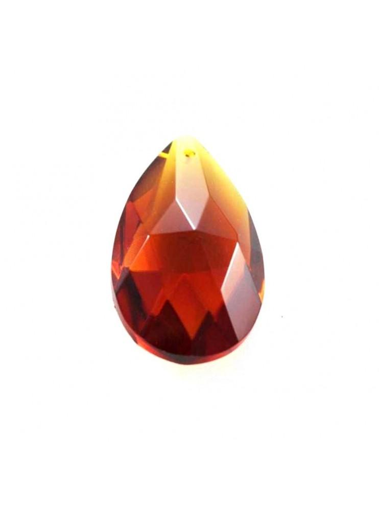 Mandorla in cristallo ambra ricambio per lampadari 38mm con foro