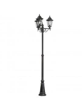 3 lights black outdoor floor lamp GLO 22145 Laterna 4