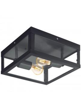 Plafoniera da esterno moderna nera 2 luci GLO 94832 Alamonte