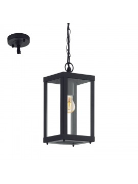 Black modern outdoor suspension GLO 94788 Alamonte 1