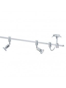 Contemporary chrome-plated LED track light GLO 93359 Vilanova