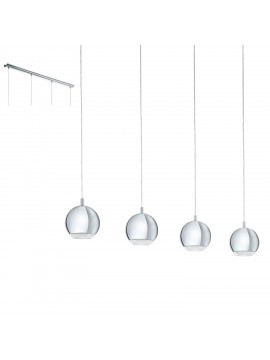 Modern chrome LED chandelier GLO 95912 Conessa