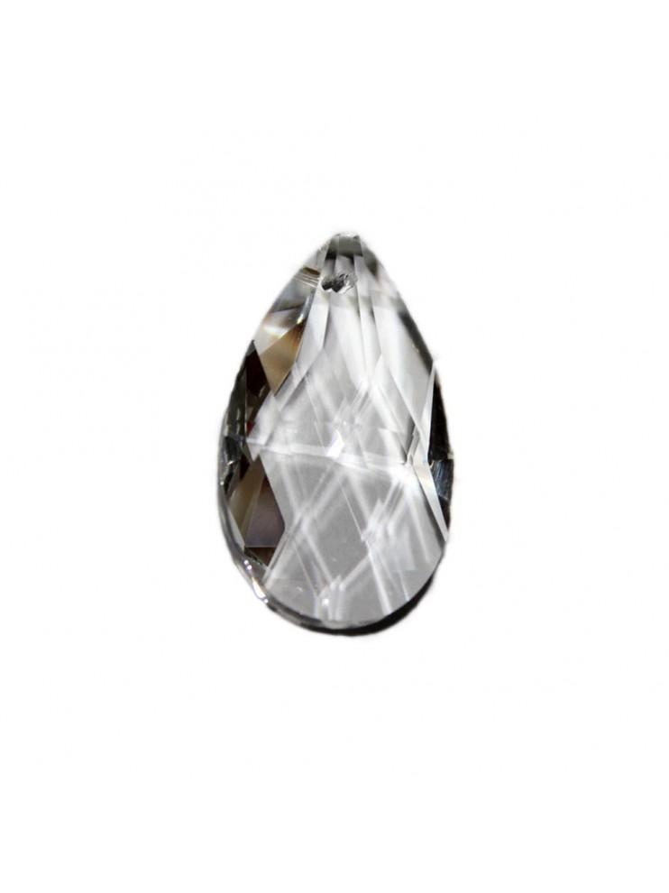 Mandorla in cristallo trasparente ricambio per lampadari 50mm con foro