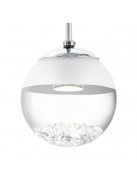 Chrome plated modern chandelier GLO 93709 Montefio 1