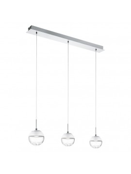 Modern chrome LED chandelier GLO 93784 Montefio 1