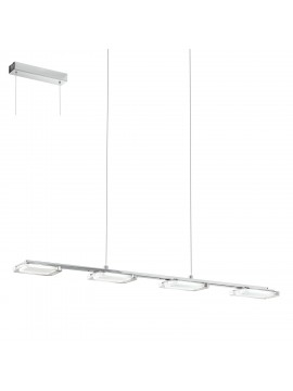 Modern chrome LED chandelier GLO 94244 Cartama