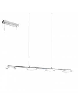 Modern chrome LED chandelier GLO 94245 Cartama