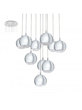 Chrome modern LED chandelier GLO 95914 Conessa