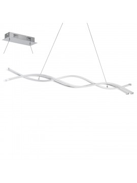 Contemporary chrome plated LED chandelier GLO 96102 Lasana 2