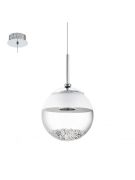 Chrome plated modern LED chandelier GLO 93708 Montefio 1