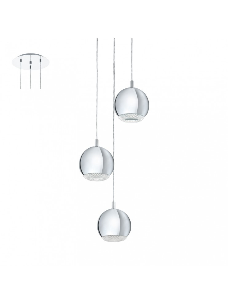 Chrome modern LED chandelier GLO 95913 Conessa