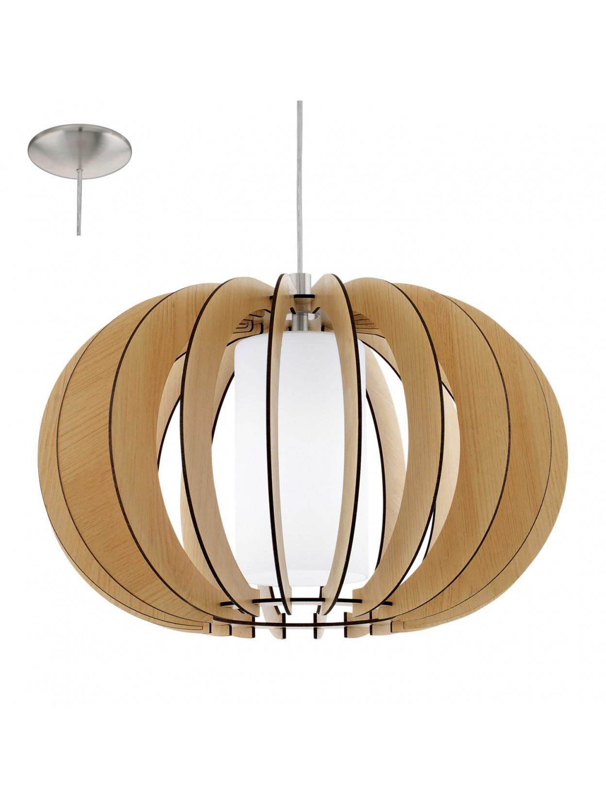 Lampadario in legno moderno 1 luce glo 95598 stellato 1 for Lampadario legno moderno