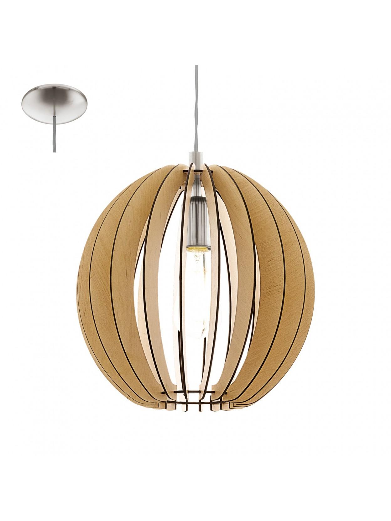 Lampadario in legno moderno 1 luce glo 94764 cossano for Lampadario legno moderno
