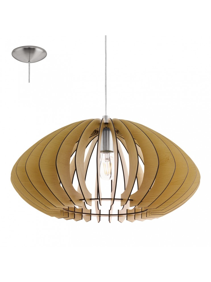 Lampadario in legno moderno 1 luce glo 95257 cossano 2 for Lampadario legno moderno