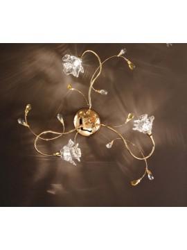 Plafoniera contemporaneo cristallo 3 luci Dafne-pl3 oro